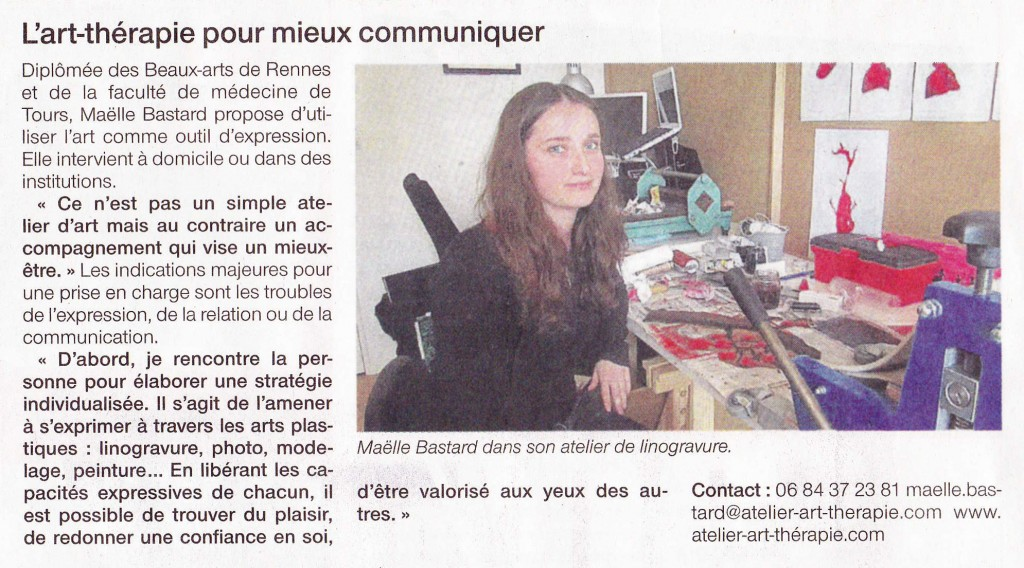 Article Ouest France 07 Mai 2013