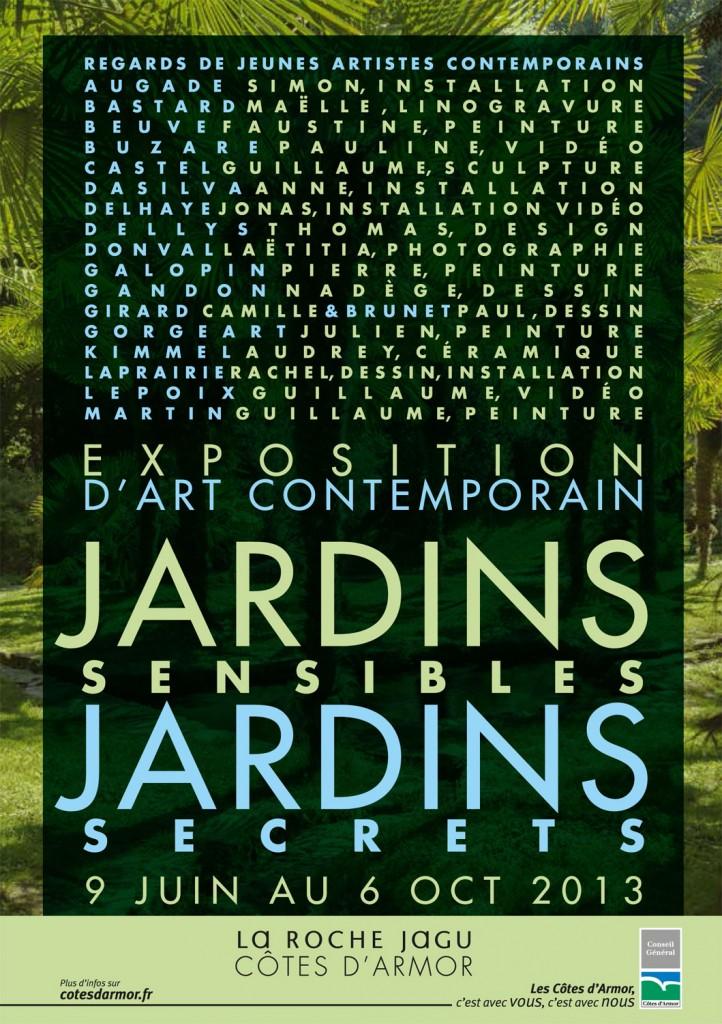 Affiche jardins sensibles jardins secrets
