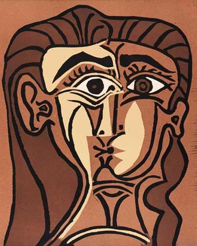 Tête de femme (Portrait de Jacqueline de face) - 1962