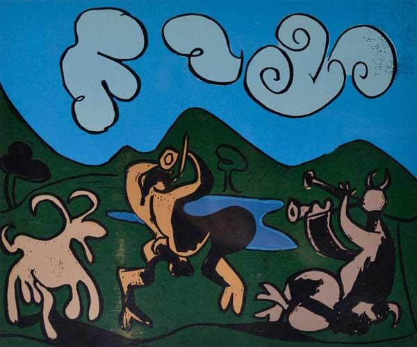 Faunes et chèvre - 1960