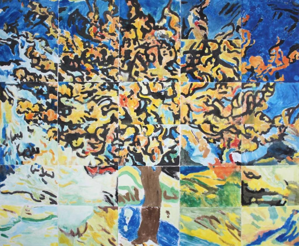 """""""L'arbre de Mulberry""""  réinterprété par les pensionnaires des Glycinnes"""