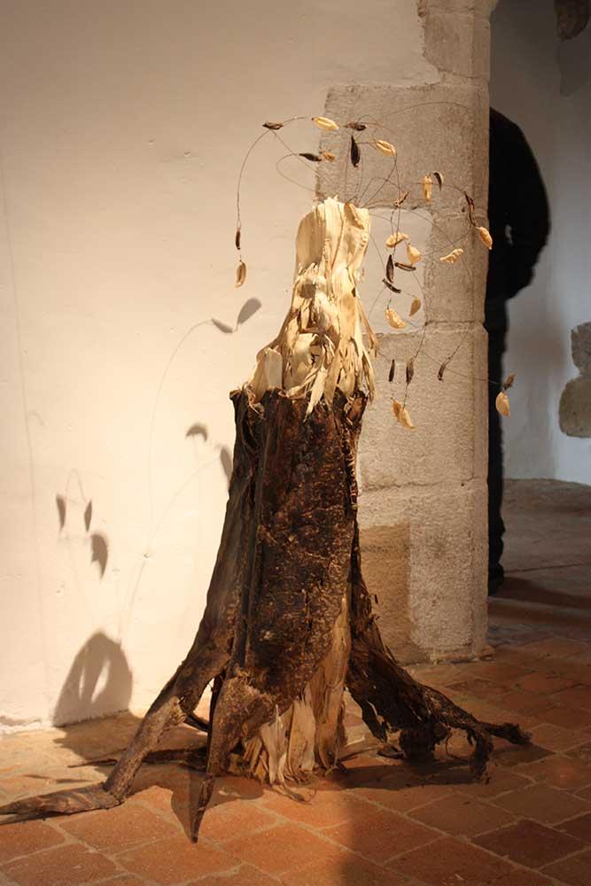 Sculpture végétale d'Anne Da Silva