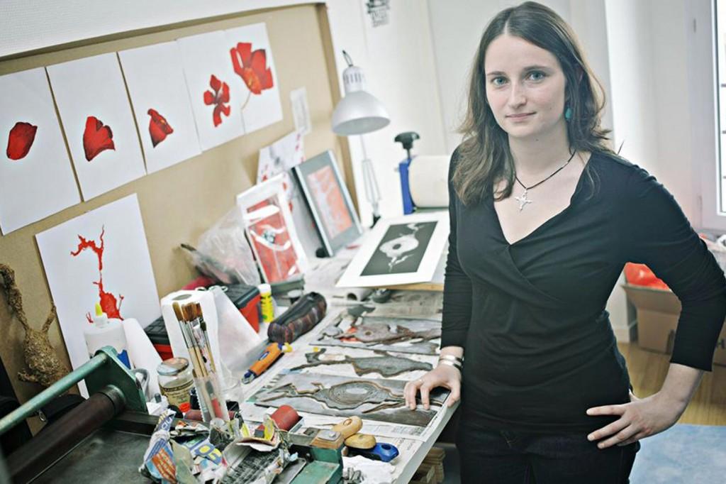 Photo dans l'atelier pour le magazine
