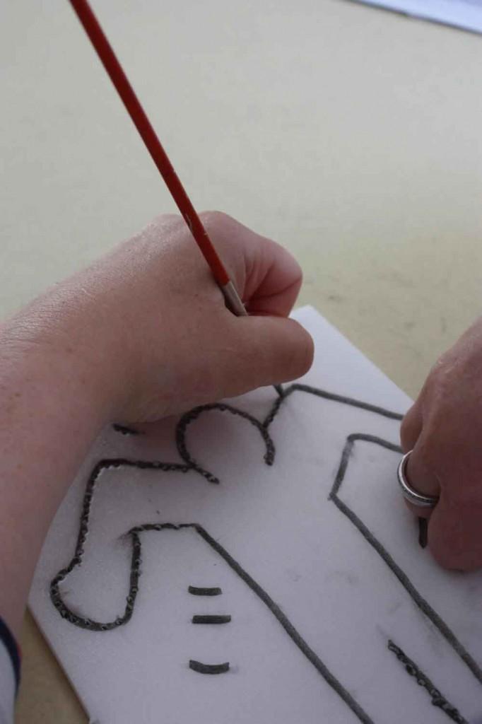 Atelier gravure sur polystyrène à la manière de Keith Haring