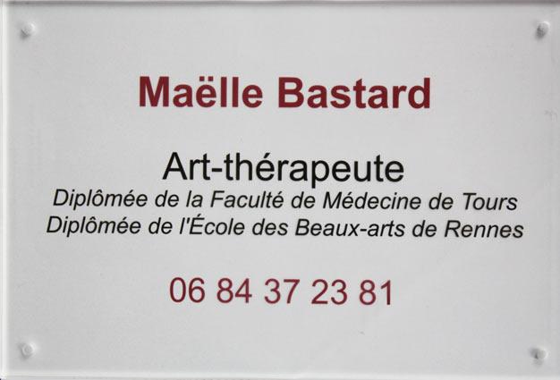 Plaque professionnelle art-thérapeute.