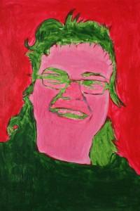 Résultat d'un portrait réalisé par une résidente.
