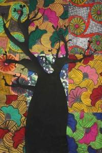 Tableau réalisé à partir des motifs  africains.