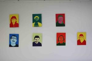 Les portraits réalisées par les résidents.