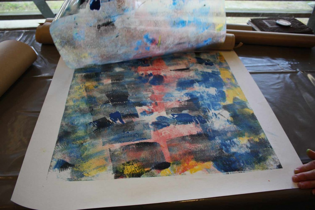 Impression d'un monotype.