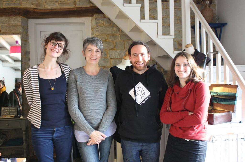 De gauche à droite : Valérie Huet, Marylène Nicolas, William Geoffroy et moi même.