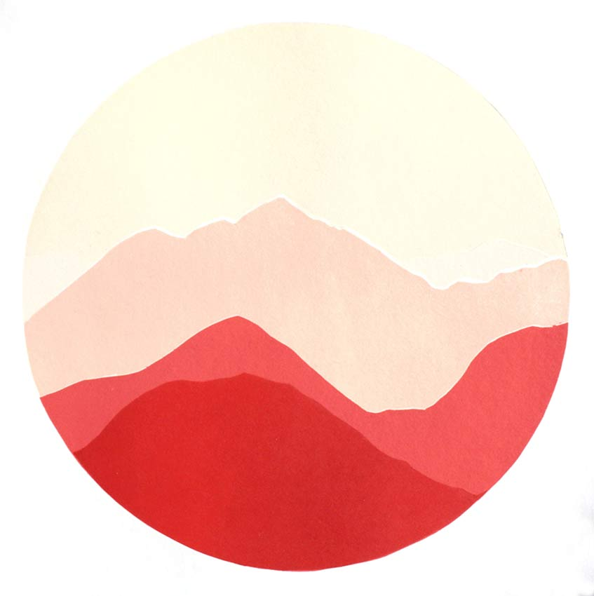 Paysage rouge Japon